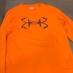 Under Armpur Men's Orange Long Sleeve Shirt